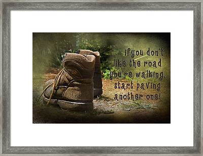 Encouragement Framed Print by Trudy Wilkerson