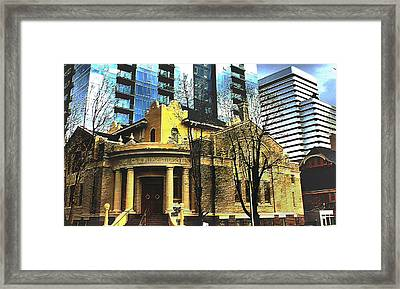 Framed Print featuring the mixed media Encroached by Terence Morrissey