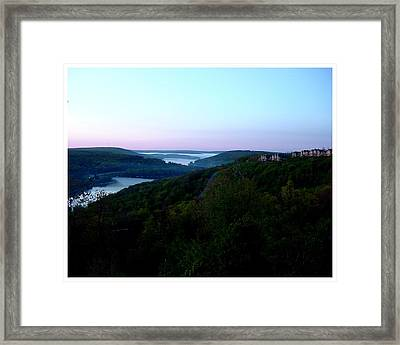 End Of A Perfect Day At Deep Creek Framed Print by Frank Wickham