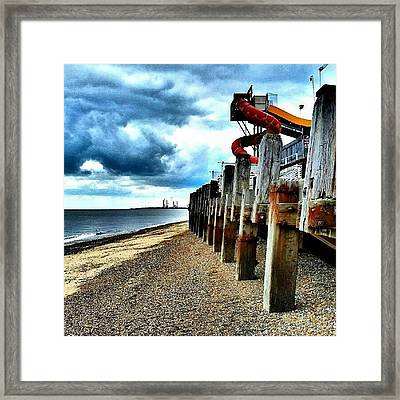 End Of Britannia Pier #wood #pier Framed Print