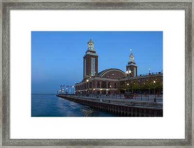 End Of Navy Pier Framed Print by Twenty Two North Photography