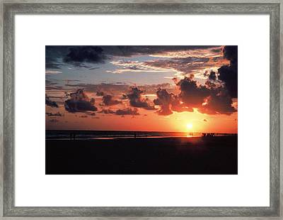 End Of Perfect Day Framed Print by Sgt Donald Lee Handley
