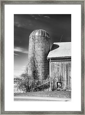 End Of The Barn Framed Print by Guy Whiteley