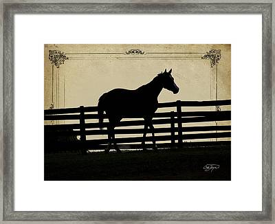 End Of The Day In Georgia - Horse Lovers Must See - Artist Cris Hayes Framed Print