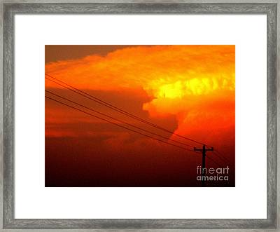 End Of The Line Framed Print by Joe Jake Pratt