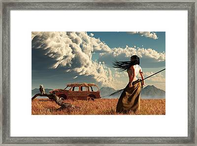 End Of The Road Framed Print by Daniel Eskridge