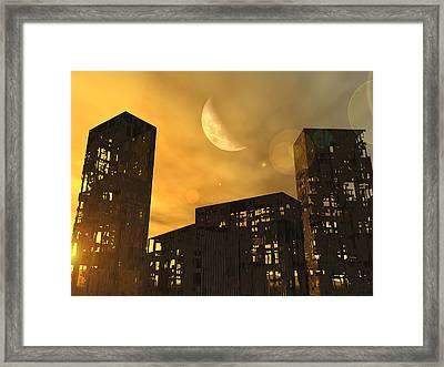 End Of The World, Conceptual Artwork Framed Print
