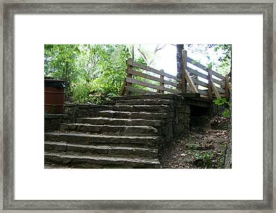 End Of Trail Framed Print by CGHepburn Scenic Photos