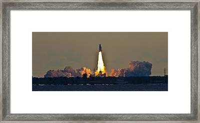 Endeavor Blast Off Framed Print