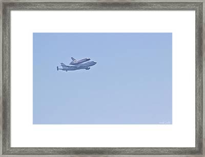 Endeavour Flyover Framed Print