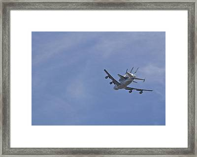 Endeavour's Last Flight Framed Print by Molly Heng