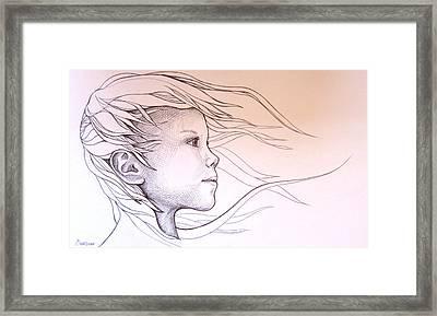 Energy Framed Print by Candice PerryMoen