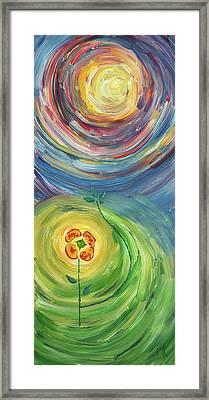 Energy Flower Framed Print by Erik Tanghe