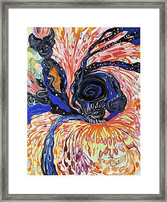 Energy Swirls Framed Print by Shoshanah Dubiner