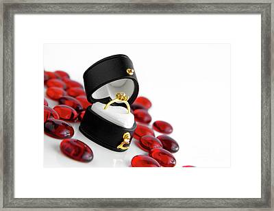 Engagement Ring Framed Print by Carlos Caetano