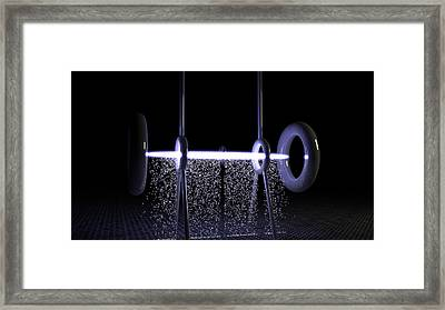 Engery Rain Framed Print by Andre Deherrera