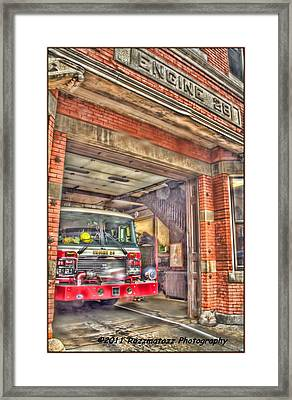 Framed Print featuring the photograph Engine 28 by Jim Lepard