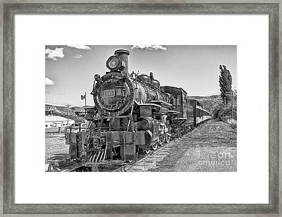 Framed Print featuring the photograph Engine 593 by Eunice Gibb