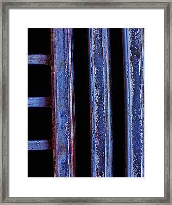 Engine Grill Framed Print