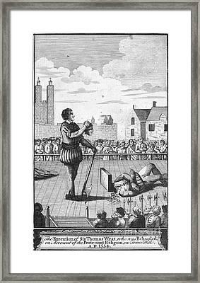 England: Beheading, 1554 Framed Print