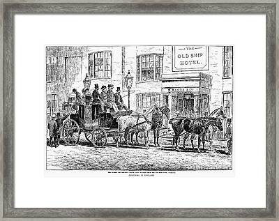 England: Coaching, 1876 Framed Print by Granger