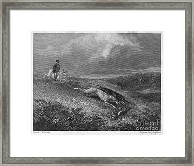 England: Coursing, 1833 Framed Print by Granger