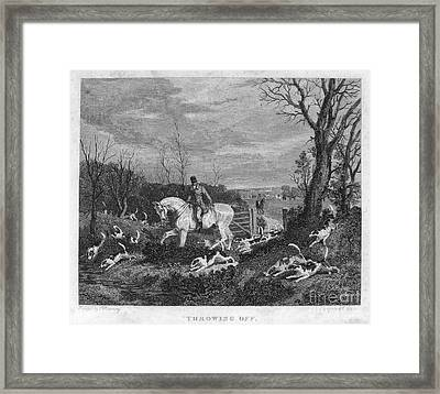 England: Fox Hunt, 1833 Framed Print