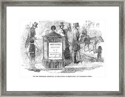 England: Mailbox, 1855 Framed Print