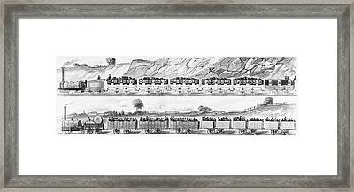 England: Railroad Travel Framed Print