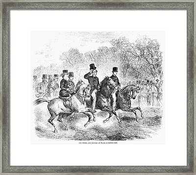 England: Rotten Row, 1863 Framed Print by Granger