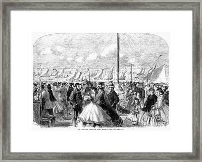 England: Yachting, 1864 Framed Print