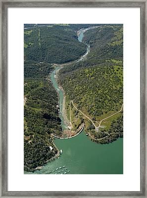 Englebright Dam Framed Print