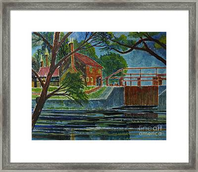 English Canal Lock Framed Print by Donald McGibbon