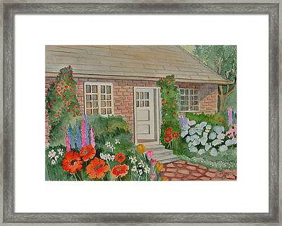 English Cottage Framed Print by Heidi Patricio-Nadon