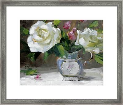 English Tea Rose Framed Print by Chris  Saper