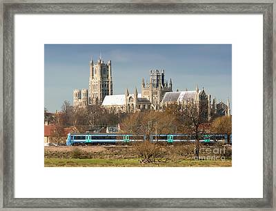 Framed Print featuring the photograph English Train by Andrew  Michael