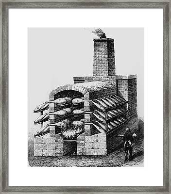 Engraving Of Early Kiln For Making Sulphuric Acid Framed Print by