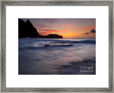 Engulfed By The Sea Framed Print by Mike  Dawson