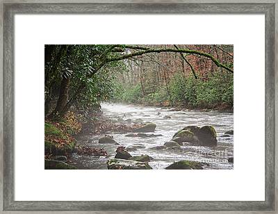 Enhanced Fog On The River Framed Print