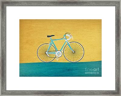 Enjoy The Ride Framed Print by Linda Tieu