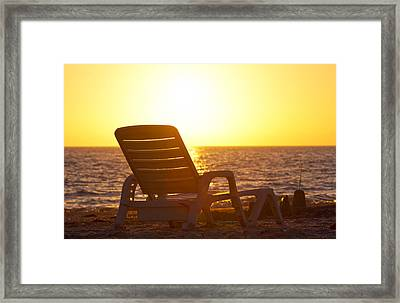 Enjoy The Seconds Framed Print by Betsy Knapp