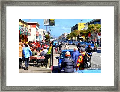Enjoying The Day At San Francisco Fishermans Wharf . 7d14485 Framed Print by Wingsdomain Art and Photography