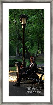 Enjoying The Moment In Central Park II Framed Print by Lee Dos Santos