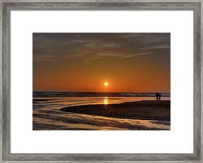 Enjoying The Sunset Framed Print