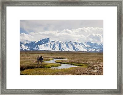 Enjoying The Upper Owens River Framed Print by Ei Katsumata