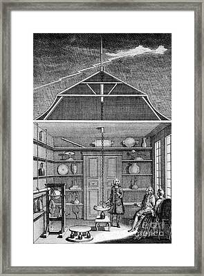Enlightenment Lightning, 1766 Framed Print by Science Source