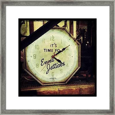 Enna Jetticks Clock Framed Print