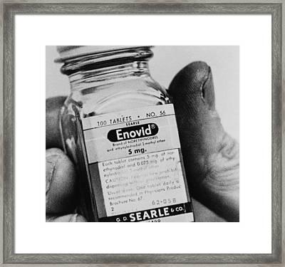 Enovid Birth Control Pills Became Framed Print by Everett