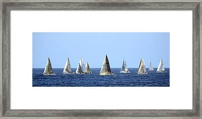 Ensenada Race I Framed Print