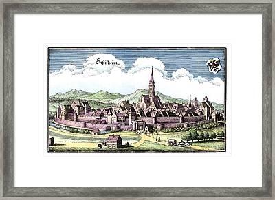 Ensisheim, France, 17th Century Artwork Framed Print